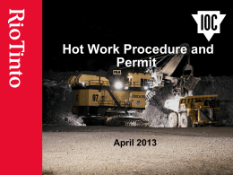 Hot work permit areas