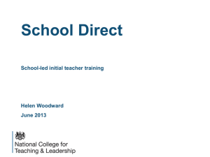 MSA School Direct National College for Teaching and Leadership