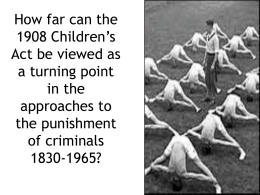How were child criminals treated before the act