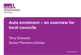 Preparing for auto enrolment