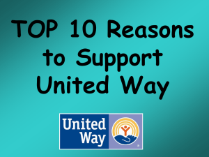 Ten Reasons to Support United Way