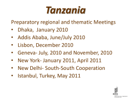 Tanzania Fourth UN Conference
