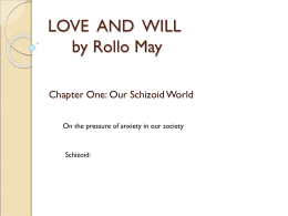 LOVE AND WILL by Rollo May