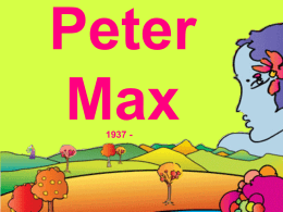 peter max lecture