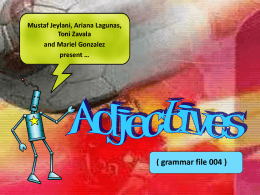 adjectives - Grammarman Comic