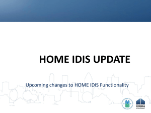 Peter Huber - HOME IDIS changes