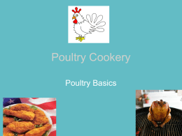 Poultry Cookery
