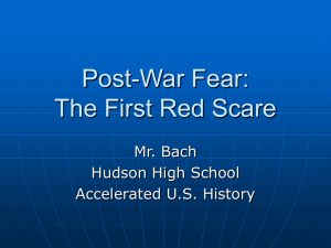 The 1920s Red Scare