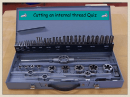 Cutting an internal thread quiz