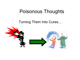 Poisonous Thoughts & Antidotes