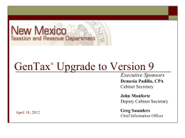 Project Overview - New Mexico Department of Information Technology