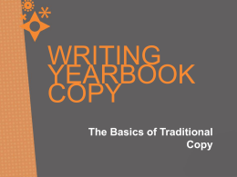 The Basics of Traditional Copy