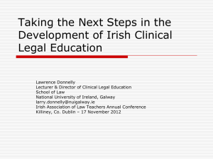 Taking the Next Steps in the Development of Irish Clinical