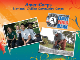 NCCC- Leave Your Mark - National Service Inclusion Project