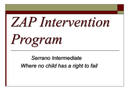 ZAP Intervention Program
