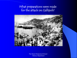 Preparations of the Gallipoli campaign