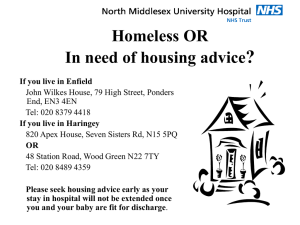 Homeless OR In need of housing advice?