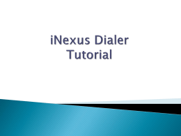iNexus Tutorial