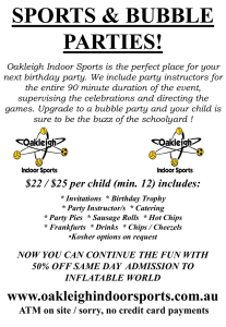No Slide Title - Oakleigh Indoor Sports