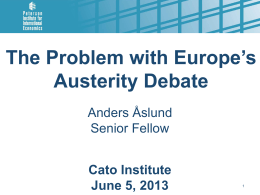 """The Problem with Europe`s Austerity Debate"" from"