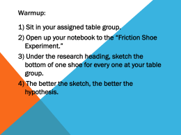 Shoes and Friction Inquiry
