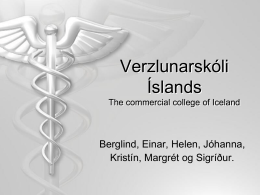 About The Commercial College of Iceland
