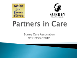 Partners in Care - Jane Thornton & John Bangs