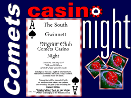 Comets Casino Night