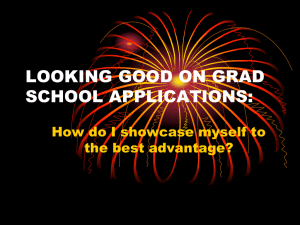 looking good on applications for graduate school