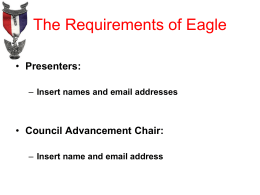 The Requirements of Eagle