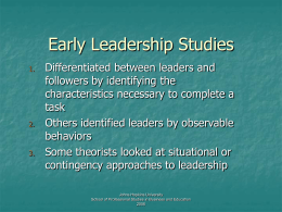 Leadership_Studies - Early Childhood Community