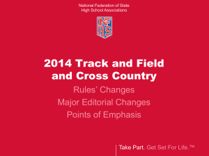 2014 Track and Field PowerPoint - North Carolina High School