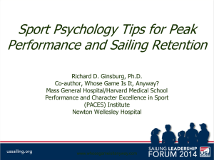 Sport Psychology Tips for Peak Performance and Sailing Retention