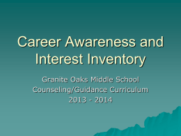 Career Awareness and Interest Inventory