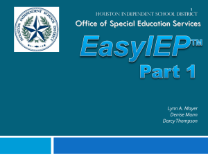 Nurse (Related Service) - HISD Special Education Updates
