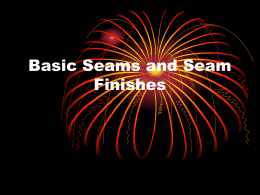 Basic Seams and Seam Finishes