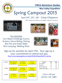 Campout Flier - Blue Valley Adventure Guides