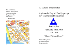 Al-Anon in English Stockholm 14 Feb 2015