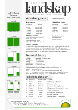 Advertising rates Technical Facts