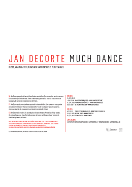 JAN DECORTE MUCH DANCE
