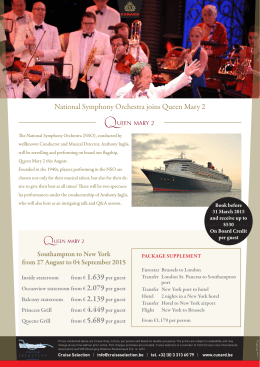 National Symphony Orchestra joins Queen Mary 2