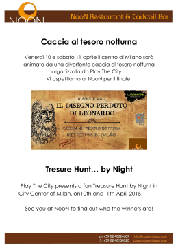 Caccia al tesoro notturna Tresure Hunt… by Night