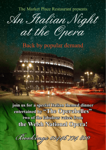 An Italian Night at the Opera