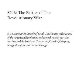 8-2.5 Battles of the American Revolution