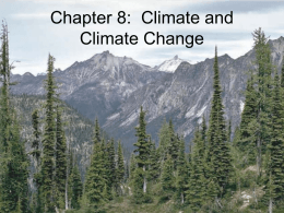 Chapter 8: Climate and Climate Change