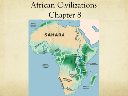 African Civilizations: Chapter 8