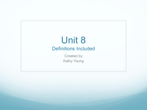 Unit 8 Definitions Included