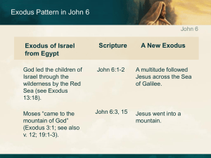 Exodus Pattern in John 6