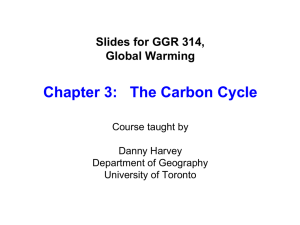 Chapter 3: The Carbon Cycle
