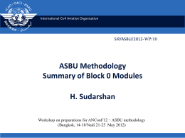 (ASBU) methodology - Summary of Block 0 modules